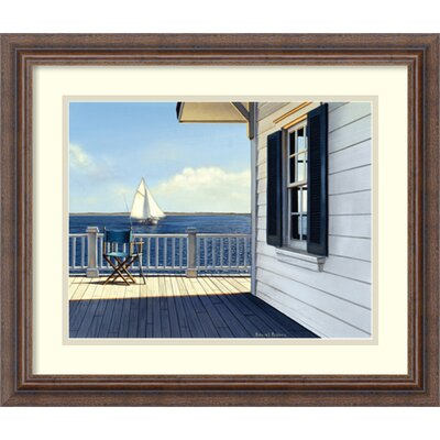 'On the Bay' by Daniel Pollera Framed Painting Print