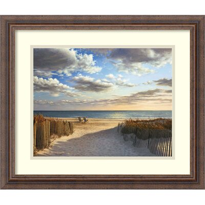 'Sunset Beach' by Daniel Pollera Framed Painting Print