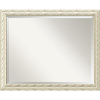 Amanti Art Cape Cod Large Mirror in Rustic Whitewash