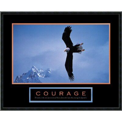"Amanti Art Courage- Bald Eagle Framed Print Art - 23.02"" x 29.02"""