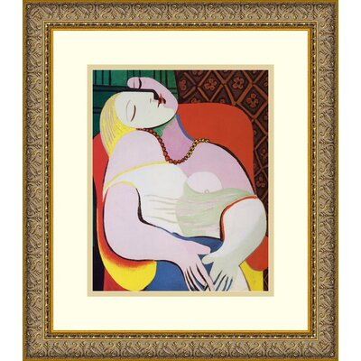 "Amanti Art The Dream by Pablo Picasso, Framed Print Art - 16.12"" x 14.12"""