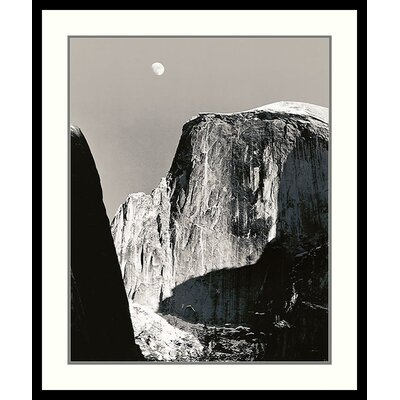 Moon Over Half Dome by Ansel Adams, Framed Print Art - 31.41