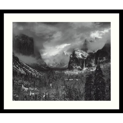 Clearing Winter Storm by Ansel Adams, Framed Print Art - 21.04