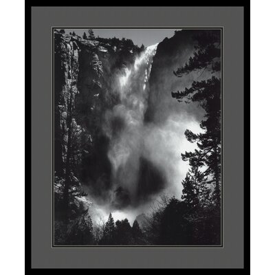 Bridal Veil Falls by Ansel Adams, Framed Print Art - 33.04
