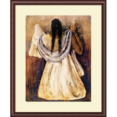 "Amanti Art Woman from Tehautepec by Rufino Tamayo, Framed Print Art - 29.5"" x 24"""