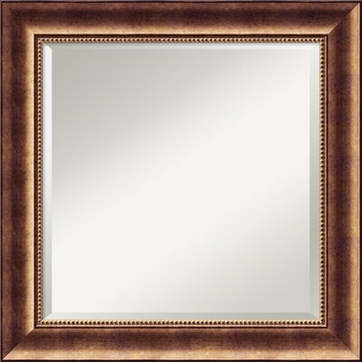 Amanti Art Manhattan Square Mirror in Antique Burnished Bronze