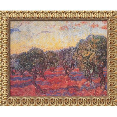 "Amanti Art Olive Grove (L'Uliveto) by Vincent Van Gogh, Framed Canvas Art - 19.5"" x 23.5"""