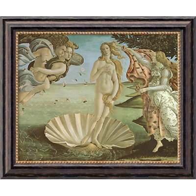 "Amanti Art The Birth of Venus by Sandro Botticelli, Framed Canvas Art - 20.03"" x 24.03"""