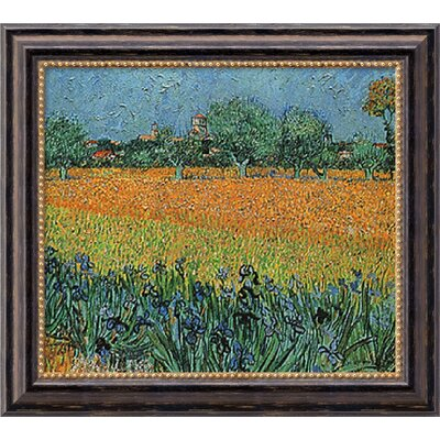 "Amanti Art View of Arles with Irises by Vincent Van Gogh, Framed Canvas Art - 19.97"" x 23.97"""
