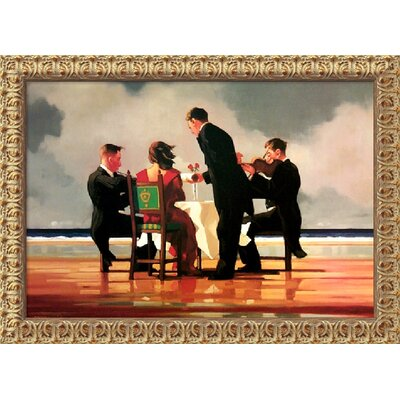 "Amanti Art Elegy for the Dead Admiral by Jack Vettriano, Framed Canvas Art - 22.56"" x 31.56"""
