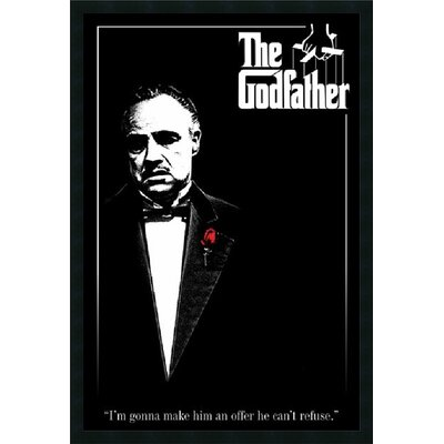 "Amanti Art Godfather - Red Rose Framed Print Art - 37.66"" x 25.66"""