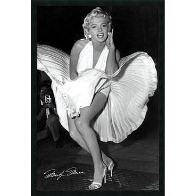 "Amanti Art Marilyn in New York, 1954 by Matthew Zimmerman, Framed Print Art - 37.66"" x 25.66"""