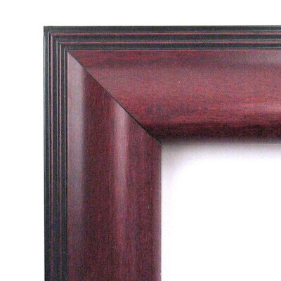 Amanti Art Cambridge Large Mirror in Mahogany