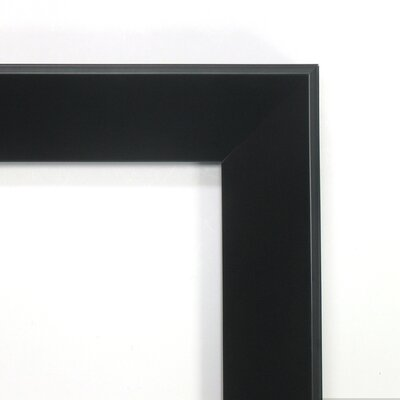 Amanti Art Madison Square Mirror in Satin Black