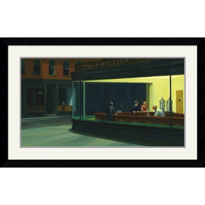 Amanti Art Nighthawks, 1942 Framed Art Print by Edward Hopper