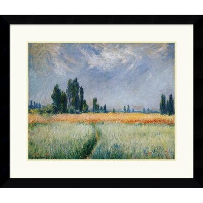 "Amanti Art Wheatfield, 1881  by Claude Monet Framed Fine Art Print - 29.49"" x 34.62"""