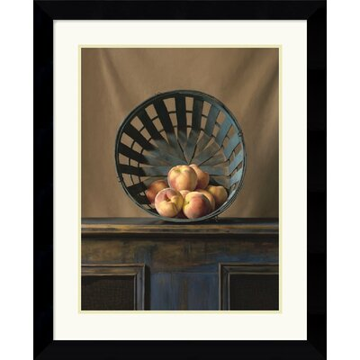 "Amanti Art White Peaches by Ken Marlow Framed Fine Art Print - 29.62"" x 24.12"""