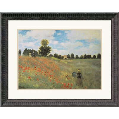 "Amanti Art Poppies at Argenteuil, 1873 by Claude Monet Framed Fine Art Print - 16.68"" x 21.68"""