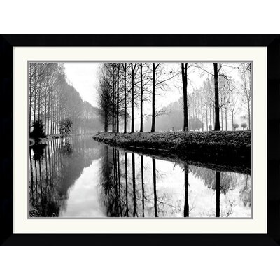 "Amanti Art Canal, Normandy by Bill Philip Framed Fine Art Print - 26.74"" x 35.12"""