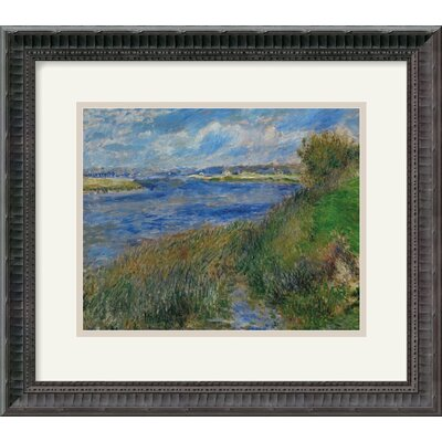 "Amanti Art La Seine a Champrosay - Banks of the Seine River at Champrosay, 1876 by Pierre Auguste Renoir Framed Fine Art Print - 15.18"" x 17.18"""