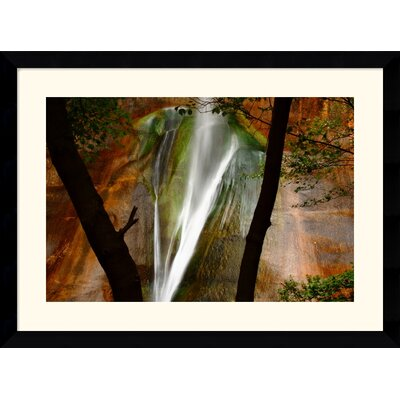 "Amanti Art Calf Creek Falls by Andy Magee Framed Fine Art Print - 28.62"" x 38.62"""