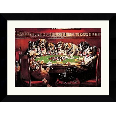 Amanti Art Poker Sympathy Framed Art Print by C.M. Coolidge