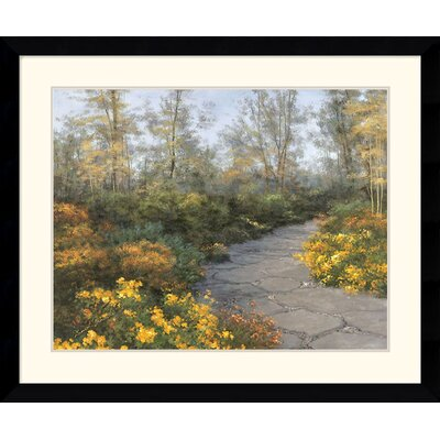 Step into Autumn Framed Art Print by Diane Romanello