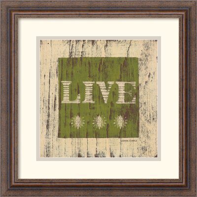 Amanti Art 'Live' by Warren Kimble Framed Textual Art