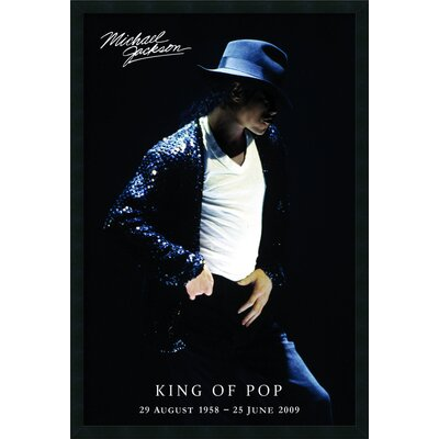 Amanti Art Michael Jackson King of Pop Framed Print