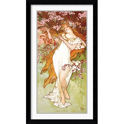 Printemps (Spring) Framed Print by Alphonse Mucha