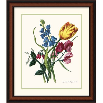 Bouquet with Tulipa Gesneriana Framed Print by Jacob Lawrence