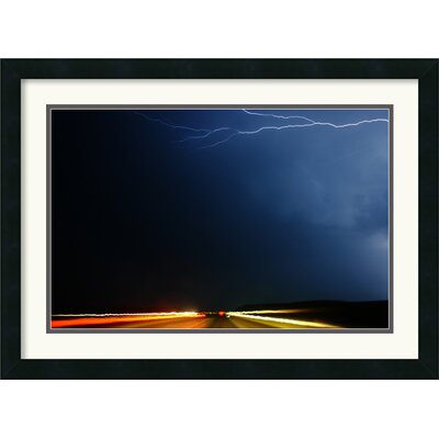 Amanti Art Highway Storm Framed Print by Andy Magee