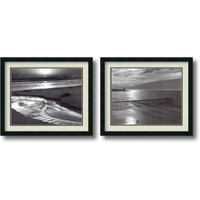 Beach, 1966 Framed Print by Ansel Adams (Set of 2)