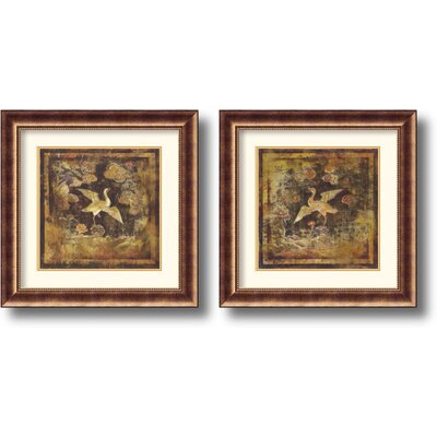 Birds of Paradise Framed Print by Georgia (Set of 2)