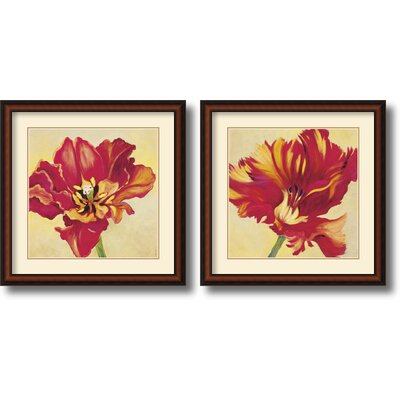 Amanti Art 'Tulipan Pair' by Jennifer Hollack 2 Piece Framed Painting Print Set