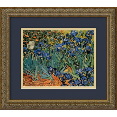 "Amanti Art Les Irises (Irises) by Vincent Van Gogh, Framed Print Art - 12.87"" x 15.62"""