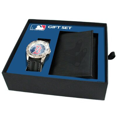 MLB Game Time Watch and Tri-Fold Wallet Combination Pack