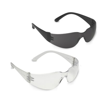 Single Wrap Around Lens Safety Glasses (Set of 2)