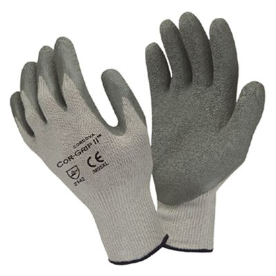 Cordova Cor-Grip Crinkle Latex Glove in Gray - Large