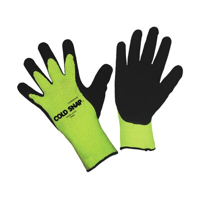 Cordova Cold Snap Hi Vis Lime Green Latex Glove - Large
