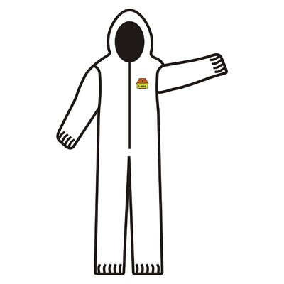 Cordova Safety C-Max 3 Layer White Breathable Coverall with Attached Hood, Elastic Wrists, Ankles and Waist - Extra Large