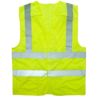 Cordova Flame Resistant 5 point Breakaway Class 2 Hi Vis Safety Vest - Extra Large
