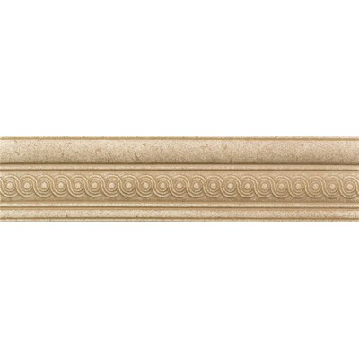 "American Olean Carriage House 8"" x 2"" Decorative Chair Rail Tile Trim in Straw/Saddle/Buckskin Resin"