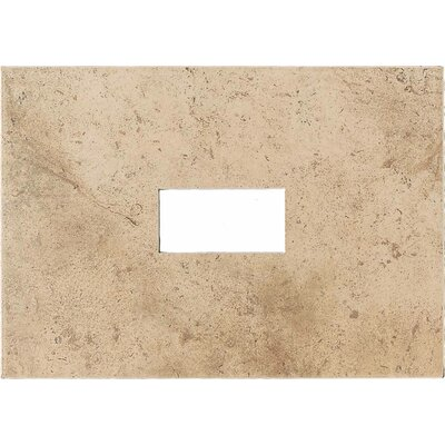 "American Olean Costa Rei 14"" x 10"" Glazed Decorative Wall Tile with Cutout in Oro Miele"
