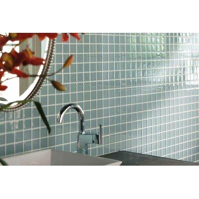 "American Olean Legacy Glass 1"" x 1"" Glazed Solid Wall Mosaic in Moonlight"