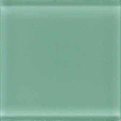 """American Olean Legacy Glass 4-1/4"""" x 4-1/4"""" Glazed Field Tile in Palm"""