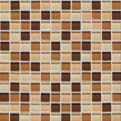 "American Olean Legacy Glass 1"" x 1"" Glazed Wall Mosaic in Desert Blend"