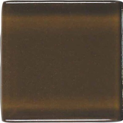 "American Olean Legacy Glass 2"" x 2"" Glazed Solid Wall Mosaic in Sable"