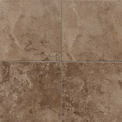 "American Olean Pozzalo 6"" x 6"" Glazed Field Tile in Weathered Noce"