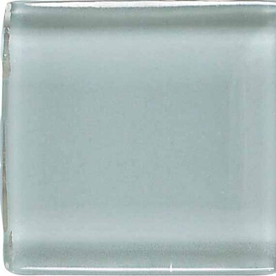 "American Olean Legacy Glass 1"" x 1"" Glazed Solid Wall Mosaic in Moonlight"